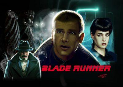 Ilustracion realista Blade Runner