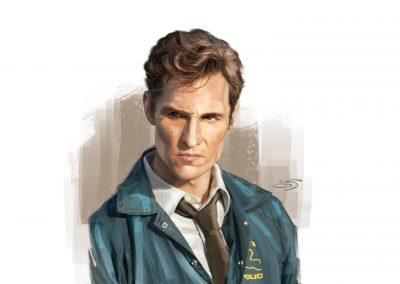 Ilustracion True detective